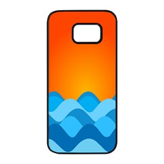 Water Orange Samsung Galaxy S7 Edge Black Seamless Case