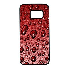 Red Water Samsung Galaxy S7 Black Seamless Case