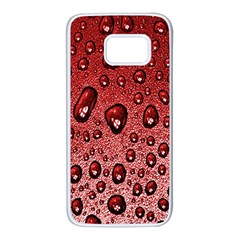 Red Water Samsung Galaxy S7 White Seamless Case