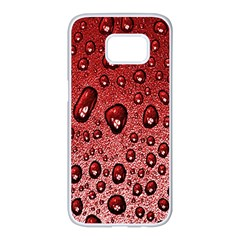 Red Water Samsung Galaxy S7 Edge White Seamless Case