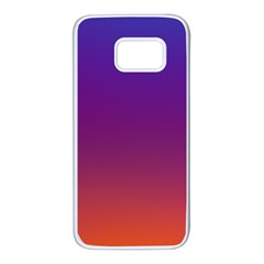 Purple Orange Blue Samsung Galaxy S7 White Seamless Case