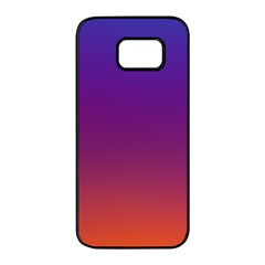 Purple Orange Blue Samsung Galaxy S7 Edge Black Seamless Case