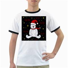 Polar bear - Xmas design Ringer T-Shirts