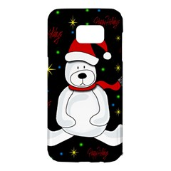 Polar Bear   Xmas Design Samsung Galaxy S7 Edge Hardshell Case