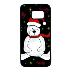 Polar bear - Xmas design Samsung Galaxy S7 Black Seamless Case