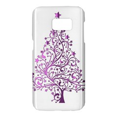 Elegant Starry Christmas Pink Metallic Look Samsung Galaxy S7 Hardshell Case