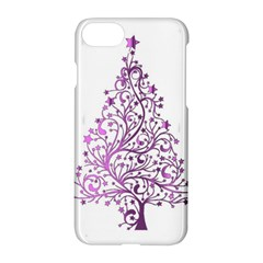 Elegant Starry Christmas Pink Metallic Look Apple Iphone 7 Hardshell Case