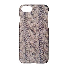 Rib Knit in Pink Apple iPhone 7 Hardshell Case
