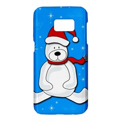 Polar bear - blue Samsung Galaxy S7 Hardshell Case