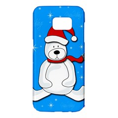 Polar bear - blue Samsung Galaxy S7 Edge Hardshell Case