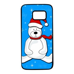 Polar bear - blue Samsung Galaxy S7 Black Seamless Case