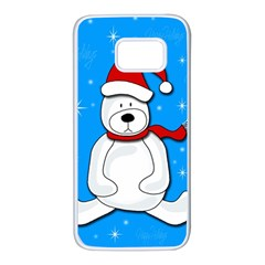 Polar bear - blue Samsung Galaxy S7 White Seamless Case