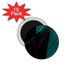 Abstract Green Purple 1 75  Magnets (10 Pack)