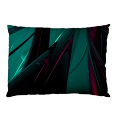 Abstract Green Purple Pillow Case