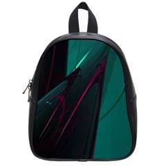 Abstract Green Purple School Bags (small)