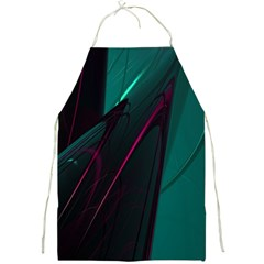Abstract Green Purple Full Print Aprons