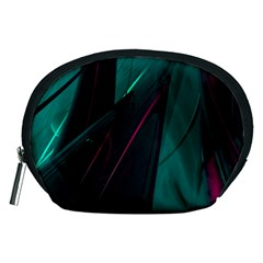 Abstract Green Purple Accessory Pouches (medium)