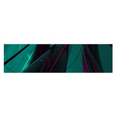 Abstract Green Purple Satin Scarf (oblong)