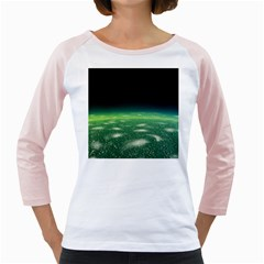 Alien Orbit Girly Raglans