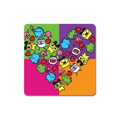 Cartoon Pattern Square Magnet