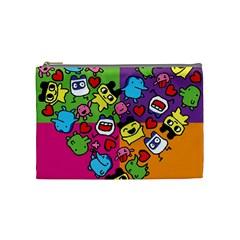Cartoon Pattern Cosmetic Bag (medium)