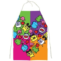 Cartoon Pattern Full Print Aprons