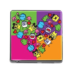 Cartoon Pattern Memory Card Reader (square)