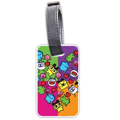 Cartoon Pattern Luggage Tags (two Sides)