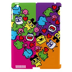 Cartoon Pattern Apple Ipad 3/4 Hardshell Case (compatible With Smart Cover)