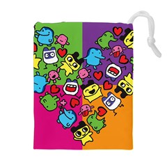 Cartoon Pattern Drawstring Pouches (extra Large)