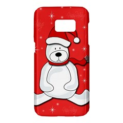 Polar bear - red Samsung Galaxy S7 Hardshell Case