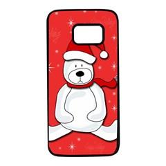 Polar bear - red Samsung Galaxy S7 Black Seamless Case
