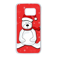 Polar bear - red Samsung Galaxy S7 White Seamless Case