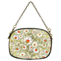 Beautiful White Flower Pattern Chain Purses (one Side)