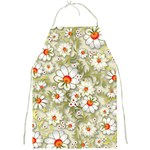 Beautiful White Flower Pattern Full Print Aprons Front