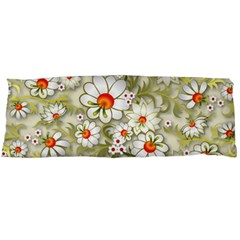 Beautiful White Flower Pattern Body Pillow Case Dakimakura (two Sides)