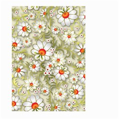Beautiful White Flower Pattern Large Garden Flag (two Sides)