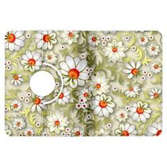 Beautiful White Flower Pattern Kindle Fire Hdx Flip 360 Case