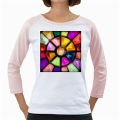 Glass Colorful Stained Glass Girly Raglans