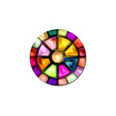 Glass Colorful Stained Glass Golf Ball Marker