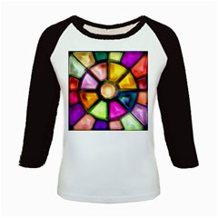 Glass Colorful Stained Glass Kids Baseball Jerseys