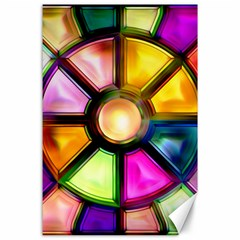 Glass Colorful Stained Glass Canvas 24  X 36