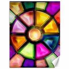 Glass Colorful Stained Glass Canvas 36  X 48