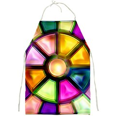 Glass Colorful Stained Glass Full Print Aprons