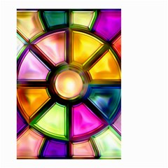 Glass Colorful Stained Glass Small Garden Flag (two Sides)
