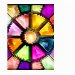 Glass Colorful Stained Glass Large Garden Flag (two Sides)
