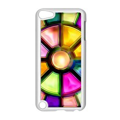Glass Colorful Stained Glass Apple Ipod Touch 5 Case (white)
