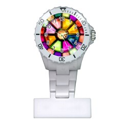 Glass Colorful Stained Glass Plastic Nurses Watch
