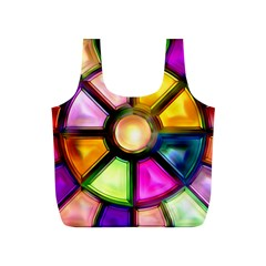 Glass Colorful Stained Glass Full Print Recycle Bags (s)