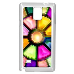 Glass Colorful Stained Glass Samsung Galaxy Note 4 Case (white)